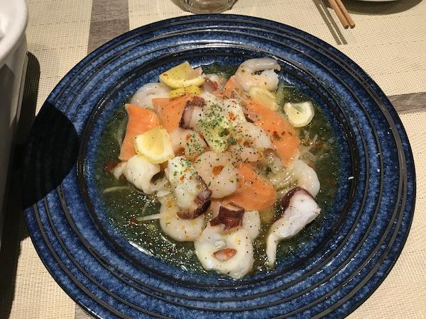 「ごっつぉ長岡店」の鮮魚のカルパッチョ