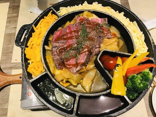 「ごっつぉ長岡店」のチーズタッカルビ